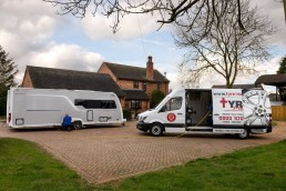 Mobile Caravan Tyre Fitting on Drive